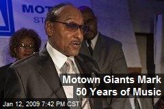 Motown Giants Mark 50 Years of Music