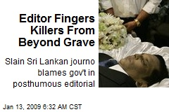 Editor Fingers Killers From Beyond Grave