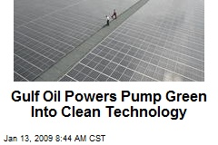 Gulf Oil Powers Pump Green Into Clean Technology