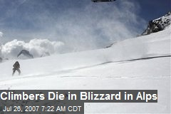 Climbers Die in Blizzard in Alps