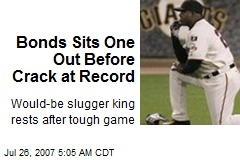 Bonds Sits One Out Before Crack at Record