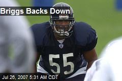 Briggs Backs Down
