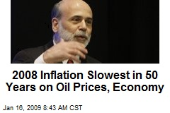 2008 Inflation Slowest in 50 Years on Oil Prices, Economy