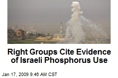 Right Groups Cite Evidence of Israeli Phosphorus Use