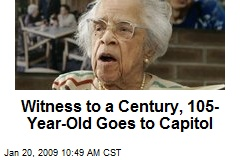 Witness to a Century, 105-Year-Old Goes to Capitol