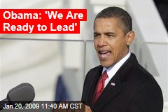 Obama: 'We Are Ready to Lead'
