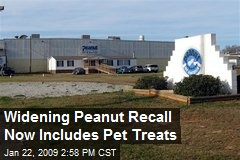 Widening Peanut Recall Now Includes Pet Treats