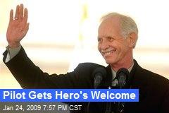 Pilot Gets Hero's Welcome