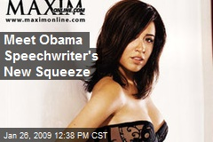 Meet Obama Speechwriter's New Squeeze