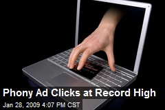 Phony Ad Clicks at Record High