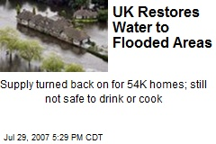 UK Restores Water to Flooded Areas