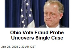 Ohio Vote Fraud Probe Uncovers Single Case