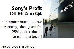 Sony's Profit Off 95% in Q4
