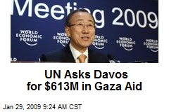 UN Asks Davos for $613M in Gaza Aid