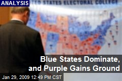 Blue States Dominate, and Purple Gains Ground