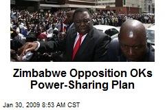 Zimbabwe Opposition OKs Power-Sharing Plan