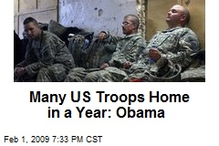 Many US Troops Home in a Year: Obama