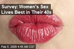 Survey: Women's Sex Lives Best in Their 40s