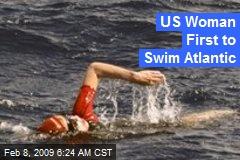 US Woman First to Swim Atlantic