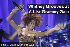 Whitney Grooves at A-List Grammy Gala