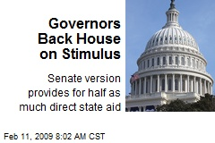 Governors Back House on Stimulus
