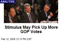 Stimulus May Pick Up More GOP Votes