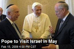 Pope to Visit Israel in May