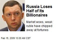 Russia Loses Half of Its Billionaires