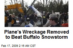 Plane's Wreckage Removed to Beat Buffalo Snowstorm
