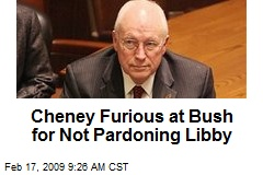 Cheney Furious at Bush for Not Pardoning Libby
