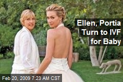 Ellen, Portia Turn to IVF for Baby