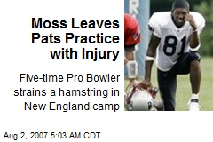 Moss Leaves Pats Practice with Injury