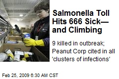 Salmonella Toll Hits 666 Sick— and Climbing
