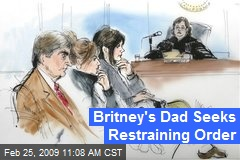 Britney's Dad Seeks Restraining Order