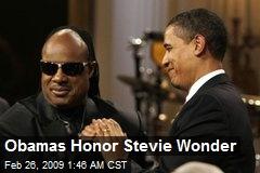 Obamas Honor Stevie Wonder