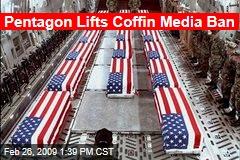 Pentagon Lifts Coffin Media Ban