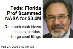 Feds: Florida Prof Scammed NASA for $3.4M