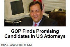 GOP Finds Promising Candidates in US Attorneys