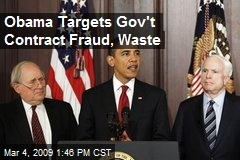 Obama Targets Gov't Contract Fraud, Waste