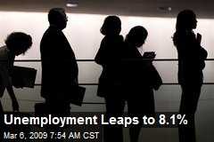 Unemployment Leaps to 8.1%
