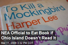 NEA Official to Eat Book if Ohio Island Doesn't Read It