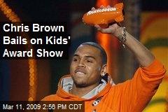 Chris Brown Bails on Kids' Award Show