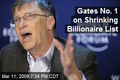 Gates No. 1 on Shrinking Billionaire List