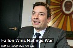 Fallon Wins Ratings War