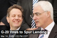 G-20 Vows to Spur Lending