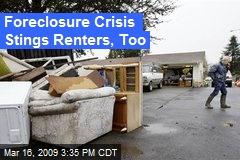 Foreclosure Crisis Stings Renters, Too