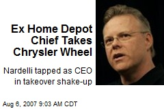 Ex Home Depot Chief Takes Chrysler Wheel