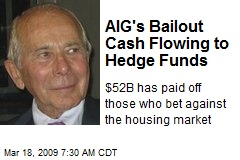 AIG's Bailout Cash Flowing to Hedge Funds