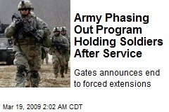 Army Phasing Out Program Holding Soldiers After Service