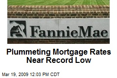Plummeting Mortgage Rates Near Record Low